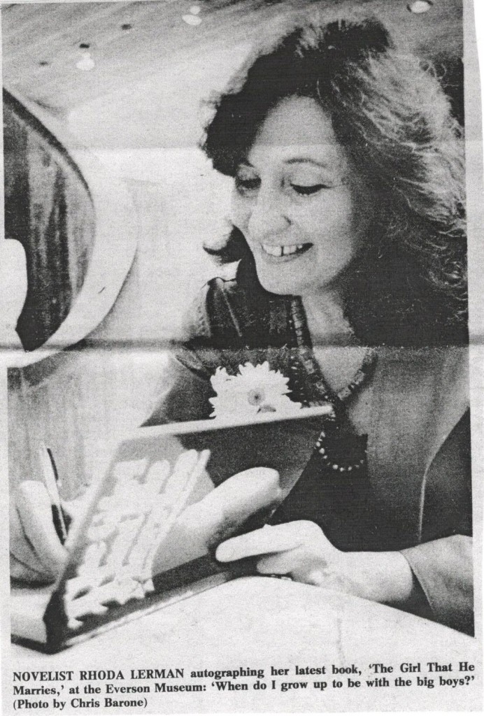 Rhoda signing THE GIRL at Everson
